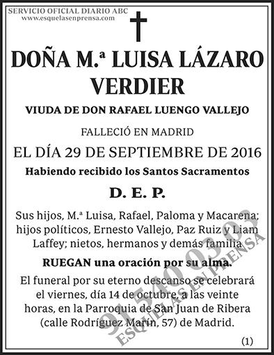 M.ª Luisa Lázaro Verdier